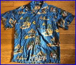 VTG Grateful Dead Hawaiian Shirt David Carey Mens M RARE Dancing Bears
