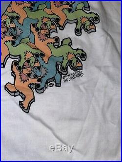 VTG Grateful Dead MC Escher Dancing Bears NWT 1993 shirt liquid blue USA XL