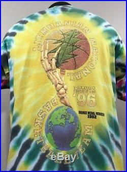 VTG Grateful Dead T Shirt Lithuania Basketball Tie Dye Album Tour Concert 90s XL