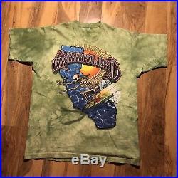 VTG THE GRATEFUL DEAD 1995 SURFING SKELETON RICK GRIFFIN T-Shirt Rare Tie Die XL