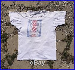 Vintage 1973 Grateful Dead Crew T Shirt 1970s 70s garcia