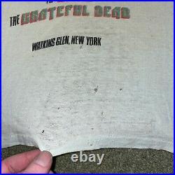 Vintage 1973 Grateful Dead The Band Allman Brothers Watkins Glen T-Shirt 70s