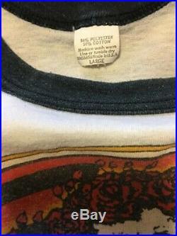 Vintage 1980 Grateful Dead / Garcia Bertha Skull and Roses Concert T-Shirt