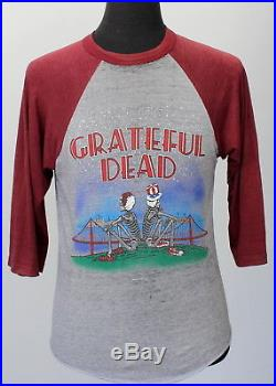Vintage 1981 GRATEFUL DEAD soft super thin RAGLAN concert T SHIRT rock 80s