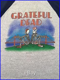 Vintage 1981 Grateful Dead Shirt Fits Like Smaller Small 80's Rock 3/4 Sleeve