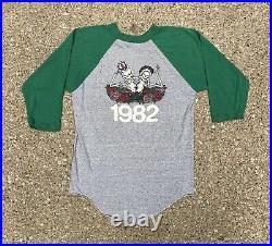 Vintage 1982 Grateful Dead Tour T Shirt Jersey Raglan 80s