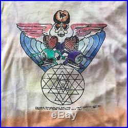 Vintage 1984 GRATEFUL DEAD Tour Concert Band Shirt, 80s 1980s Paper Thin Tie Dye
