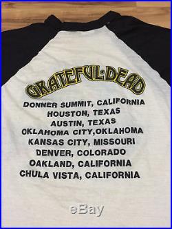 Vintage 1985 GRATEFUL DEAD Twenty Years So Far USA Flag Concert Tour T Shirt L