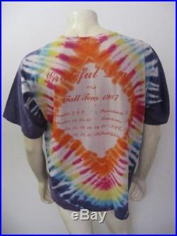 Vintage 1987 GRATEFUL DEAD Fall Tour NYC Philadelphia T Shirt Size LARGE