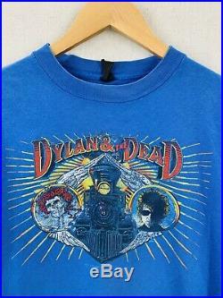 Vintage 1987 Grateful Dead Bob Dylan Alone And Together Concert Tour T-Shirt M
