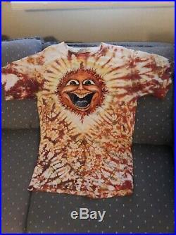 Vintage 1987 M. Dubois Sun Face Tie Dye T Shirt