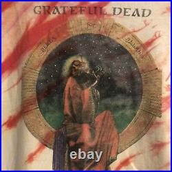 Vintage 1988 Grateful Dead Tie Dye Red And Cream Shirt Sz L