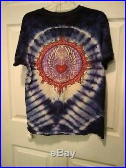 Vintage 1988 Mikio Tie Dye Grateful Dead T Shirt SIingle Stitch 2 side Men's L