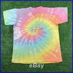 Vintage 1989 Grateful Dead Bear Liquid blue Tie-Dye T-Shirt