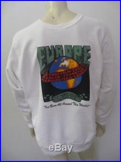 Vintage 1990 GRATEFUL DEAD EUROPE Tour Sweat Shirt White Size XL