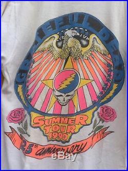 Vintage 1990 Grateful Dead Bart Simpson T Shirt Bootleg Rap Tee Nirvana