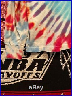 Vintage 1990 Grateful Dead Longsleeve Tie Dye Snowboarding Bears T-Shirt Size XL