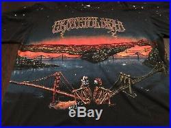 Vintage 1990 Grateful Dead San Francisco All Over Print Shirt WILD OATS RARE
