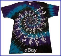 Vintage 1990 Grateful Dead Shirt Large Tie Dye Concert Tour Made In USA