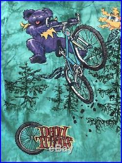 Vintage 1990s Grateful Dead Bears T Shirt Size XL Dead Tread