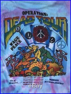 Vintage 1990s Grateful Dead Councert Tour Bootleg T Tee Shirt Jerry Garcia Bob