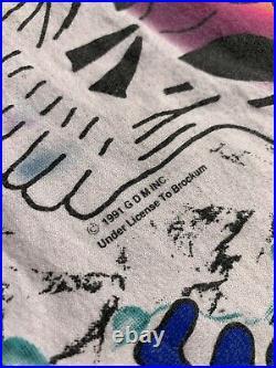 Vintage 1991 Grateful Dead All Over Print Concert Tour Shirt Wild Oats XL
