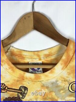 Vintage 1992 Grateful Dead Artist Ian Bohorquez Shirt Liquid Blue Large Tie Dye