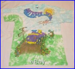 Vintage 1992 Grateful Dead'SPRING TOUR' Tie Dye Liquid Blue T-shirt. Size L