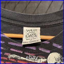 Vintage 1992 Grateful Dead Spiral Skeletons Shirt Wild Oats Large Made in USA