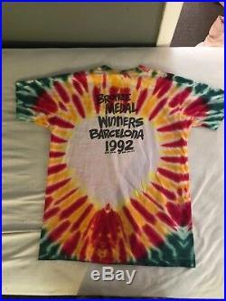 Vintage 1992 Lithuania Basketball T-Shirt Men Size L Grateful Dead USA Rare 90s