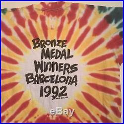Vintage 1992 Lithuania Basketball T-Shirt Men Size XL Grateful Dead USA Rare 90s