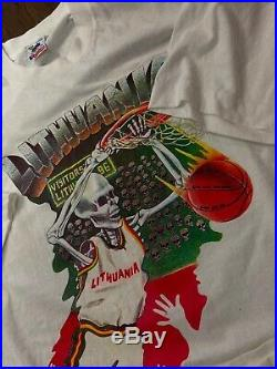 Vintage 1992 grateful dead lithuania shirt White