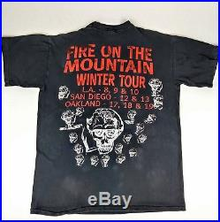 Vintage 1993 GRATEFUL DEAD XL Shirt'Fire on the Mountain Winter Tour' 90s