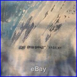 Vintage 1993 Grateful Dead Greg Speirs Ski Eye Dye Tie Dye T Shirt Sz Large