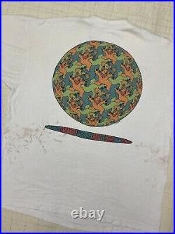 Vintage 1993 Grateful Dead MC Escher DEREK GORES BAND ART T Shirt XL Liquid Blue