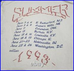 Vintage 1993 Grateful Dead Summer Tour Band Shirt L Single Stitch Jerry Garcia