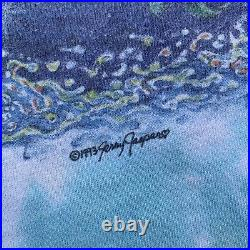 Vintage 1993 Jerry Jasper Dolphins Yin Yang Eye Dye Tie Grateful Dead Rare XL