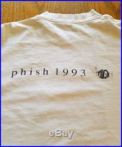 Vintage 1993 Phish Tour Shirt XL Jackson Pollock RARE Concert Tee Grateful Dead