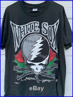 Vintage 1994 Grateful Dead Chicago White Sox T-Shirt Size XL