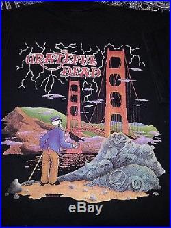 Vintage 1994 Grateful Dead Concert Shirt Golden Gate Bridge San Francisco XL