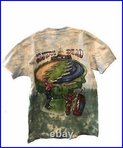 Vintage 1994 Grateful Dead Golf Tie Dyed Distressed T-Shirt Size Large