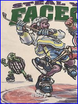 Vintage 1994 Grateful Dead Hockey NHL Psychedelic Hippie Concert Tour Shirt XL