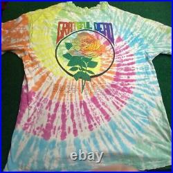 Vintage 1994 Grateful Dead Summer Tour Jerry Garcia Tie Dye Shirt XL Mens