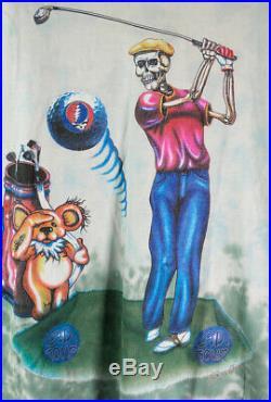 Vintage 1994 Grateful Dead T Shirt Fits Like L Golf Club Golfing PGA USA GD