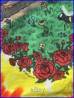 Vintage 1994 Grateful Dead T Shirt Summer Tour Tye Dye XL Liquid Blue