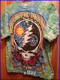 Vintage 1995 Grateful Dead 30th Anniversary Summer Tour T-Shirt XL Tie-Dye