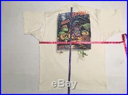 Vintage 1995 Grateful Dead LL Rain Un-Dyed Bear Shirt Liquid Blue XL