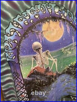 Vintage 1995 Grateful Dead T-Shirt Thirty Years Skull and Roses Tie-Dye XL USA