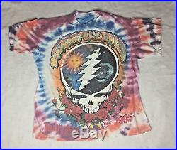Vintage 1995 Grateful Dead Tour Shirt 30th Anniversary Tie Dye Size OSFA