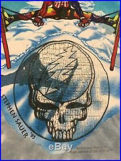 Vintage 1995 Grateful Dead U. S. Ski Team Okemo Resort T Shirt Adult L Large